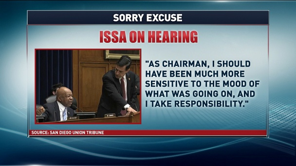 PoliticsNation with Rev. Al Sharpton: Issa apologizes - but has he changed?: Watch the Full Episode Now